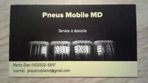 Pose de pneus à domicile