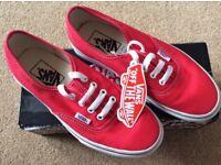 BNWT Red Vans