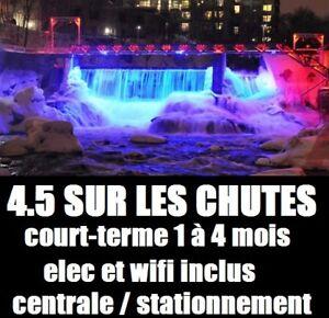 4.5 Balcon Sur Les Chutes / CourtTerme / Meublé / Tous-Inclus /