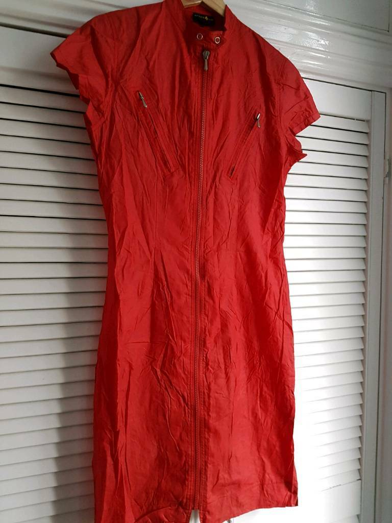 Patrick Cox red fitted dress size Large
