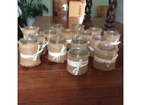Decorated table arrangement jars for flowers x 15 ideal for wedding