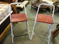 Retro style bar stools. Good condition.