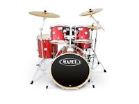 Mapex Horizon 5 piece Drum Kit in Red, includes all accessories and additional cymbals