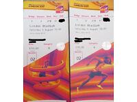 IAAF World Championships London 2017 | Sat 5th Aug | 2x seats | Category B