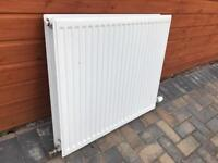 White double radiators. 2 different sizes available. Very good condition, almost new.
