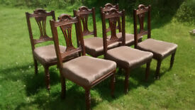 Six oak chairs