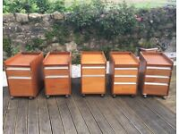 5 x Pedestal Filing Cabinets / Office Drawers