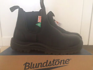 Black blundstone steel toe boots NEW
