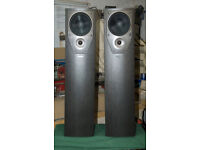 A matched pair of Mission M73 floorstanding speakers