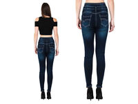 2 Womens Ladies High Waisted Blue Skinny Fit Jeans *NEW* size 14 £5 pro jeans asking price