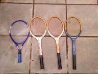Job Lot 4 Tennis Rackets