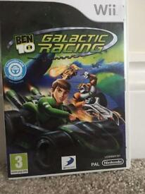 Used Ben 10 Galactic Racing Wii game