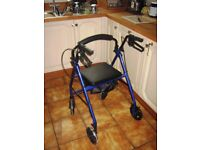 Walking aid with 4wheels. As new.