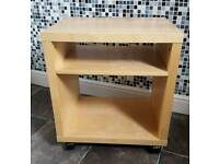 Ikea bedside shelving unit and small chest of drawers