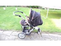 pushchair Britax B Smart 3 travel system, ISO Fix