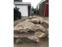 Approximately 40 Large to Medium Rockery Rocks all in good condition.