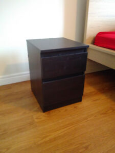 small IKEA 2-drawer chest, can be used as nightstand