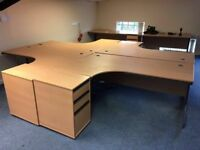 Office Furniture clearance of desks drawers