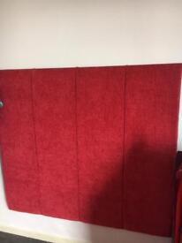 Red velvet headboard