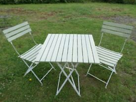 Decorative Garden Table & Chairs (Folding)