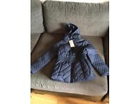 Girls navy Padded Jacket Age 7