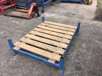 HEAVY DUTY STEEL STACKING STILLAGES 1200 X 900 mm