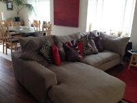 BARKER AND STONEHOUSE L-SHAPED CORNER SOFA AND ARMCHAIR