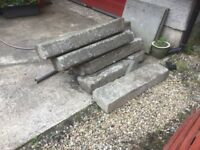 Heavy Old Concrete Kerbs for FREE Uplift