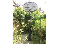 Basket ball hoop is full height (10 ft). - £25 collect only.