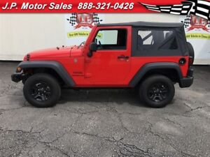2016 Jeep Wrangler Sport, Manual, 4x4, Only 26, 000km