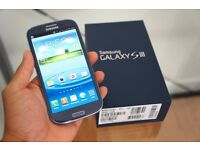 Boxed Samsung galaxy S3 mobile phone unlocked