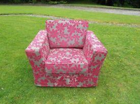 Modern Funky Pink/Grey Armchair