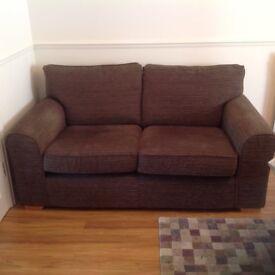 Chocolate Brown 2/3 sofa