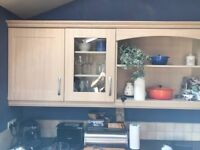 For sale: Kitchen cupboard doors and drawer fronts, pearwood finish.