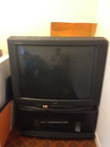 "36"" TV and stand"