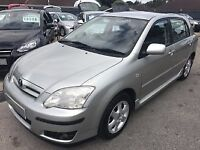 2006/56 TOYOTA COROLLA 1.6 VVT-I COLOUR COLLECTION,5 DOOR,LOW MILEAGE,AUTOMATIC,2 OWNERS,DRIVES WELL