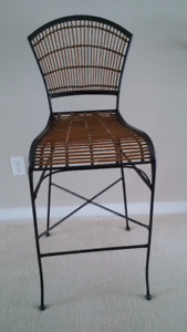 Two Tall Bar Chairs - Steel Frame