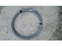 Galvanised Steel Wire Winch Rope. 15m x 8mm