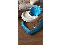 Baby Weavers baby walker - blue and cream
