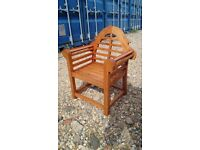 TEAK CHILDS GARDEN CHAIR, used for sale  Hampshire