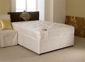EXCLUSIVE SALE! Free Delivery! Brand New Looking! Double (Single+King Size) Bed +Basic Mattress