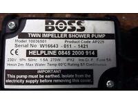 Shower Pump 1.5 bar Boss twin impeller