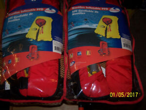 Two Nautilus Inflatable PFD's