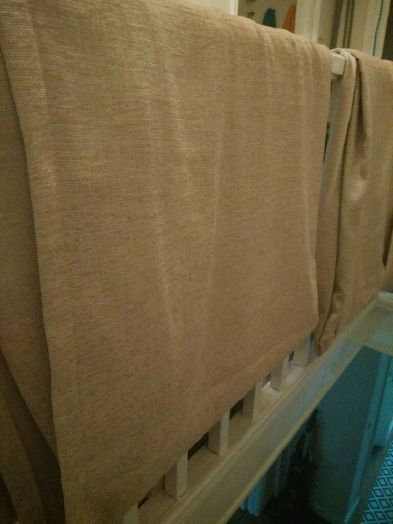 Two unlined curtainsin Southville, BristolGumtree - Two curtains, unlined, each 290cm long by 250cm. Acres of fabric so could also be transformed upholstery, sound of music play clothes