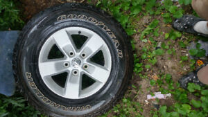 5 bolt dodge ram rims and tires new