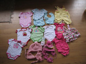 Baby girl clothes, 3-6 months.