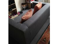 IKEA Two-seat sofa KLIPPAN Flackarp grey