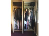 Double Wardrobes Desk corner unit and Overhead Units in Limed Oak