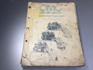 1982 OMC Stern Drive Shop Manual GM 4,6,8 cylinder Select Trim