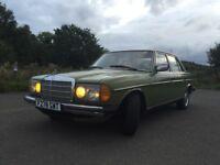 Classic 1977 Mercedes 200D W123 series LHD